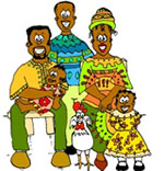 Coloriage Famille Africaine.Coloriage Africains