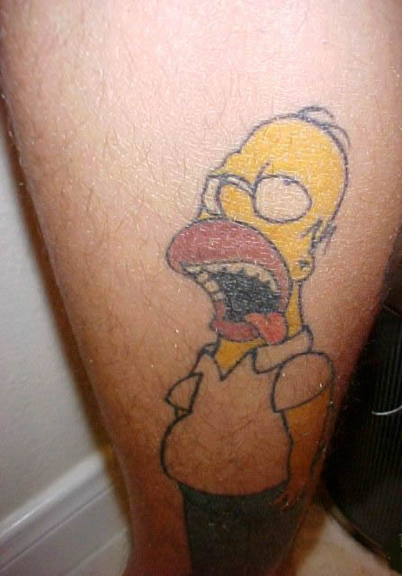 tatouage homer simpson pubis