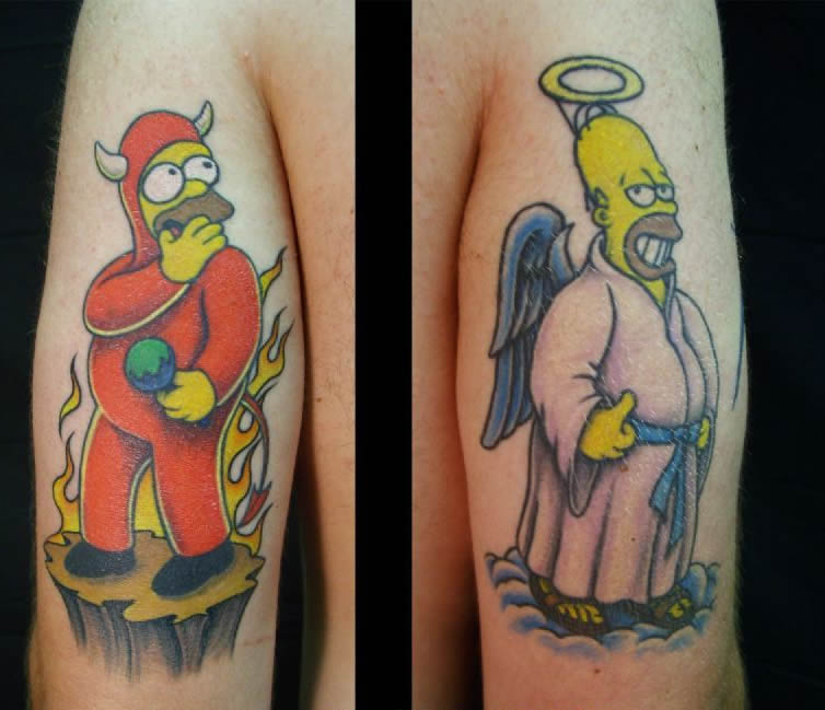 from Erik tatouage homer simpson pubis
